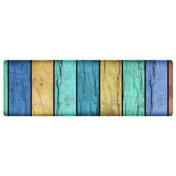 Colorful Wood Grain Pattern Floor Area Rug - COLORMIX W16 INCH * L47 INCH