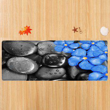 Pebbles Flowers Pattern Floor Area Rug - COLORMIX W24 INCH * L71 INCH