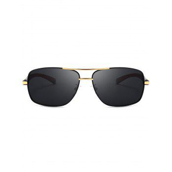 Square Pilot Sunglasses Two Tones Leg -  GOLDEN