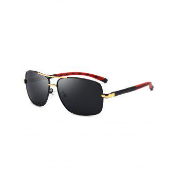 Square Pilot Sunglasses Two Tones Leg - GOLDEN GOLDEN