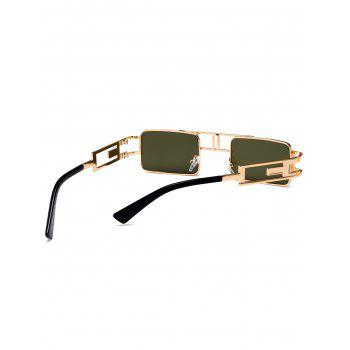 Cut Out Carver Frame Square Sunglasses - BLACKISH GREEN