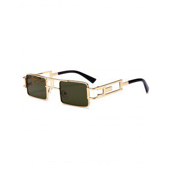 Cut Out Carver Frame Square Sunglasses - BLACKISH GREEN BLACKISH GREEN