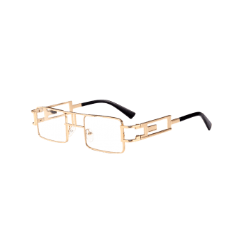 Cut Out Carver Frame Square Sunglasses - TRANSPARENT