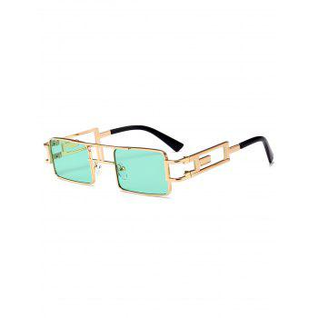 Cut Out Carver Frame Square Sunglasses - GREEN GREEN