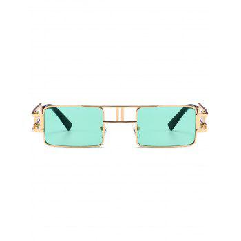 Cut Out Carver Frame Square Sunglasses -  GREEN
