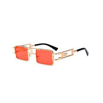Cut Out Carver Frame Square Sunglasses - THROUGH RED THROUGH RED