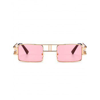Cut Out Carver Frame Square Sunglasses - LIGHT PINK