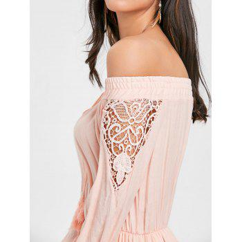 High Low Off The Shoulder Maxi Dress - PINK S