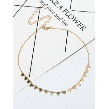 Metal Triangle Charm Collarbone Necklace - GOLDEN