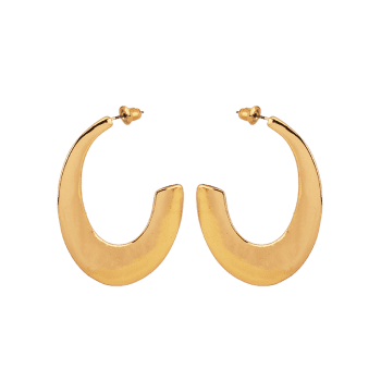 Boucles d'oreilles Tribal Moon en alliage - Or