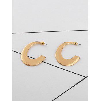 Alloy Tribal Moon Earrings - GOLDEN