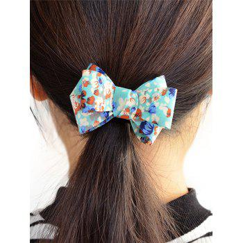 Floral Bowknot Decorated Elastic Hair Band - BLUE BLUE