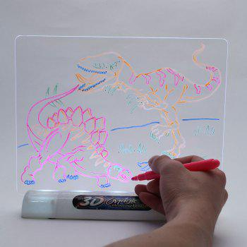 Colorful Multi-function 3D Magic Drawing Board - WHITE