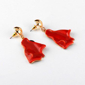 Simple Fire Shaped Earrings - RED RED