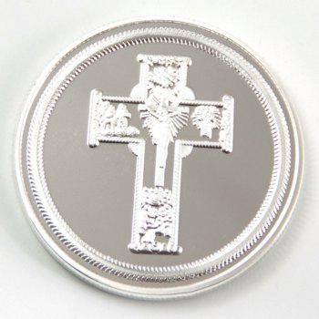 Cross Saint Christopher Protect Us Commemorative Collector's Coin - SILVER 40*40*3MM