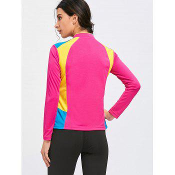 Half Zip Hit Color Cycling T-shirt - TUTTI FRUTTI L