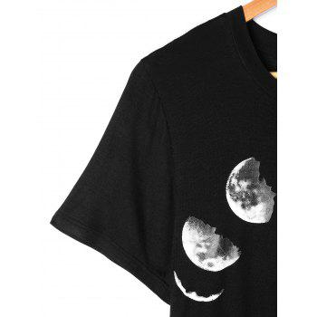 Changing Moon Tee - BLACK L