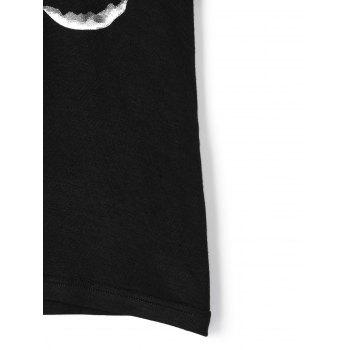 Changing Moon Tee - BLACK BLACK