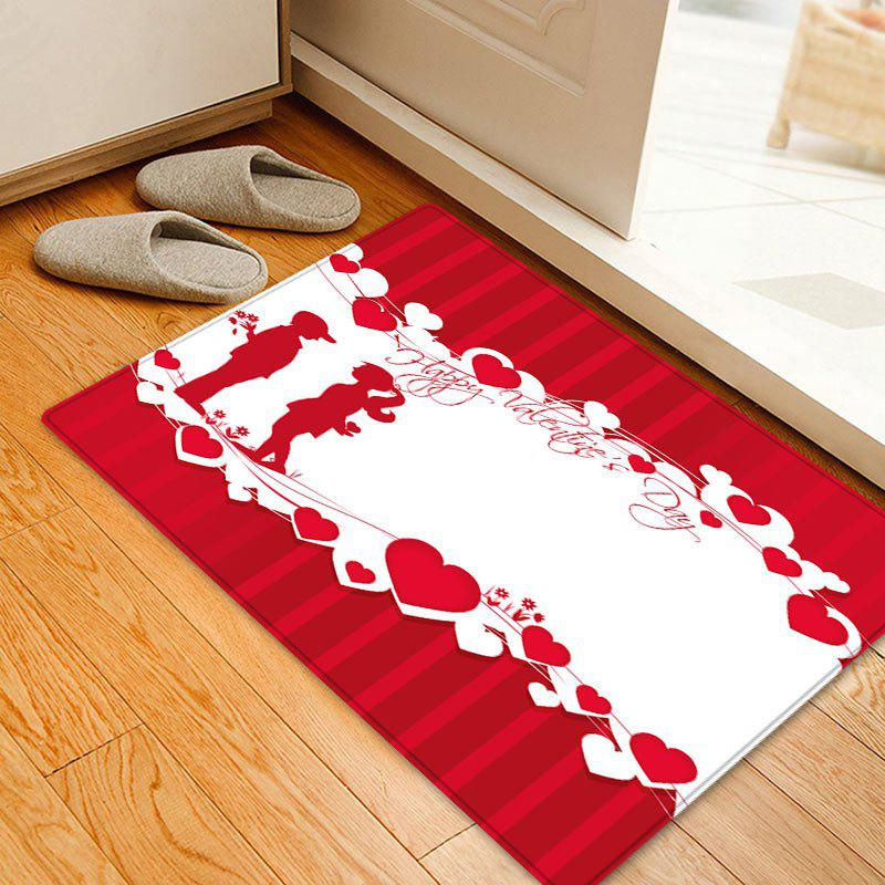 Valentine's Day Lover Pattern Floor Area Rug sand shell starfish pattern floor area rug
