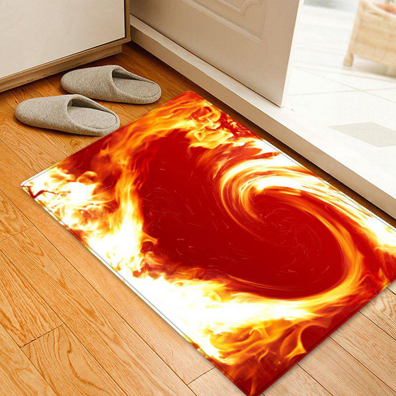 Valentine's Day Flame Heart Pattern Floor Area Rug sand shell starfish pattern floor area rug
