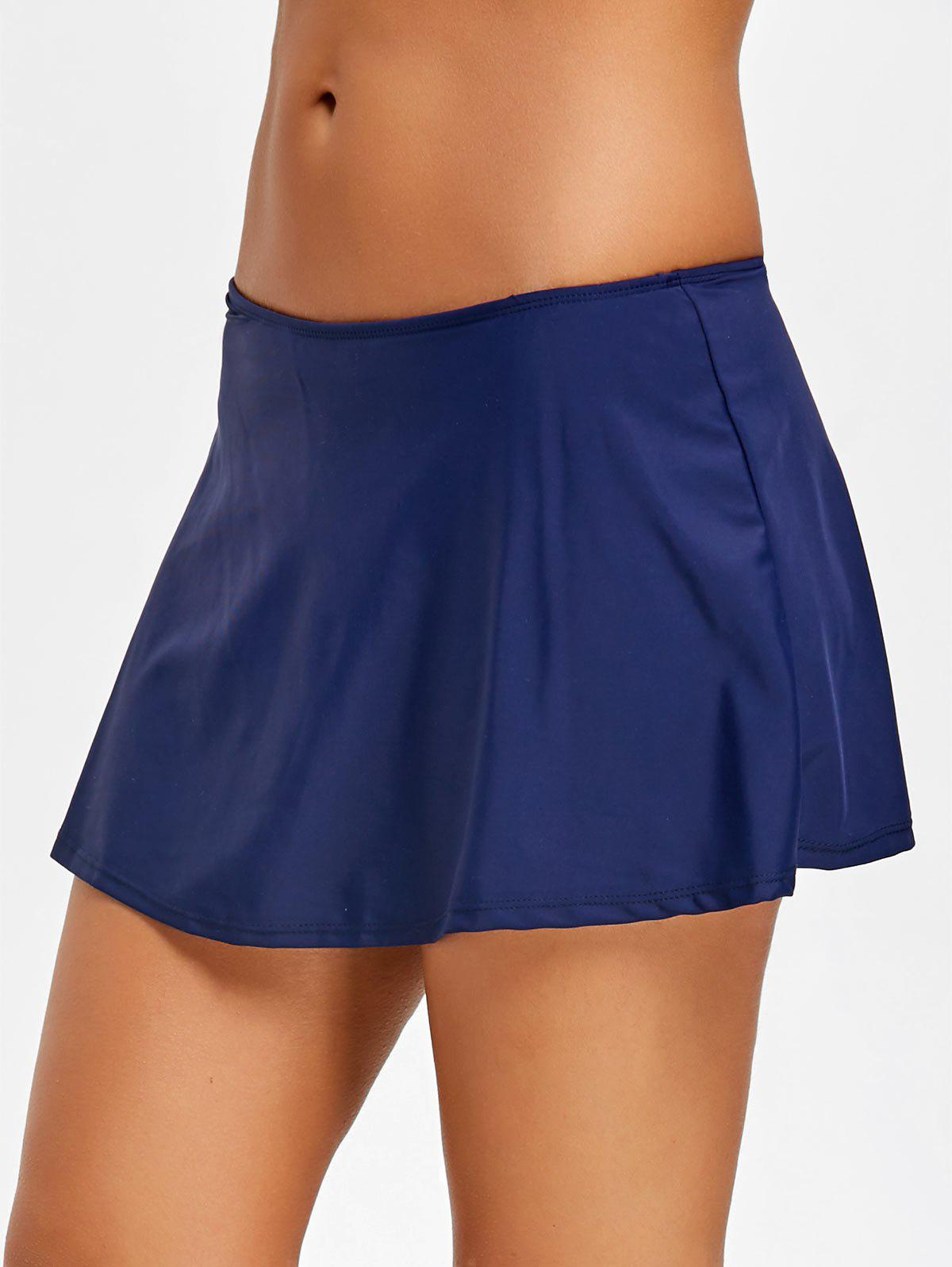 Summer Beach Swimming Skirt - PURPLISH BLUE 2XL