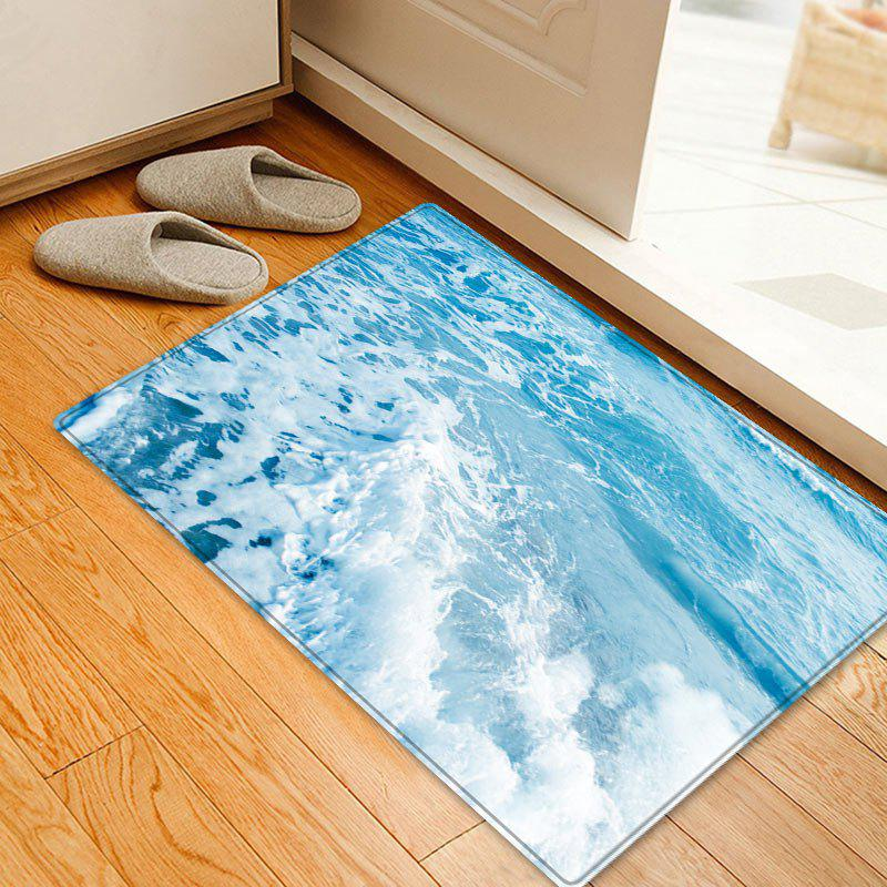 Sea Waves Pattern Anti-skid Floor Area Rug fishes in the sea pattern floor area rug