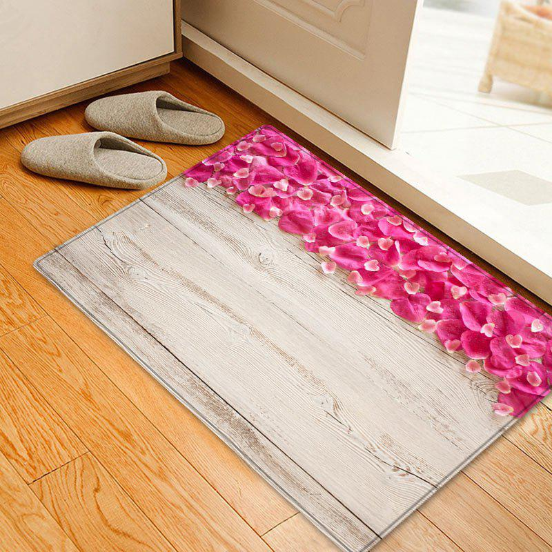Petals On Wood Background Pattern Floor Area Rug