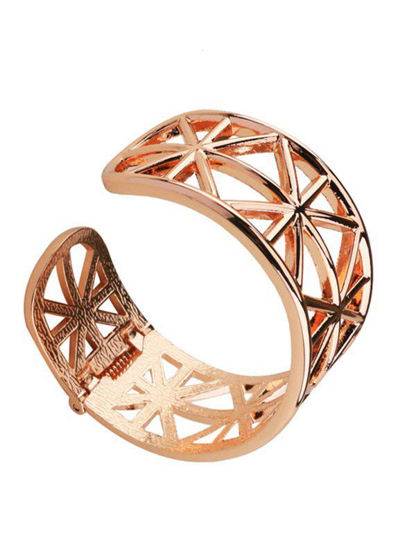 Simple Alloy Geometric Cuff Bracelet - GOLDEN