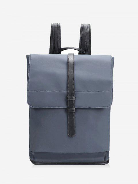 Multi Function Flap Laptop Backpack - DEEP GRAY