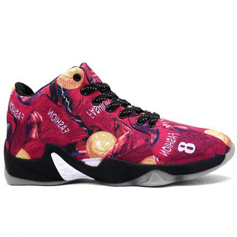 Breathable Running Basketball Sports Shoes - RED 39
