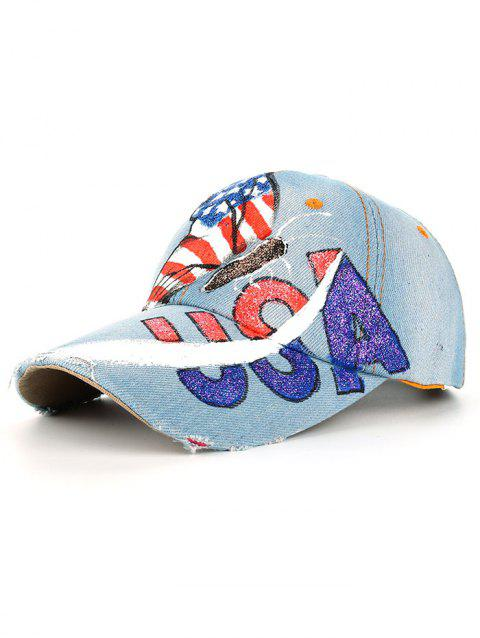 Unique Hand Drawing Butterfly American Flag Baseball Cap - 02