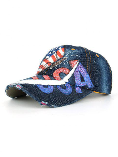 Unique Hand Drawing Butterfly American Flag Baseball Cap - 05