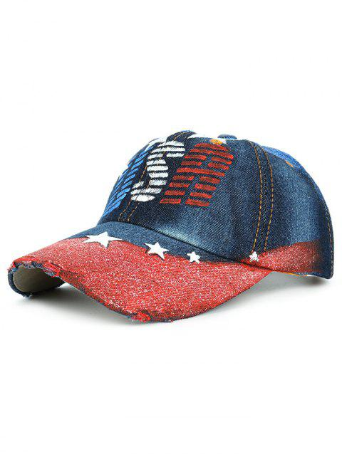 Casquette de Baseball Motif USA Dessin à la Main Style Simple - 05