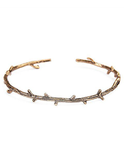 Vintage Alloy Tree Branch Cuff Bracelet - GOLDEN