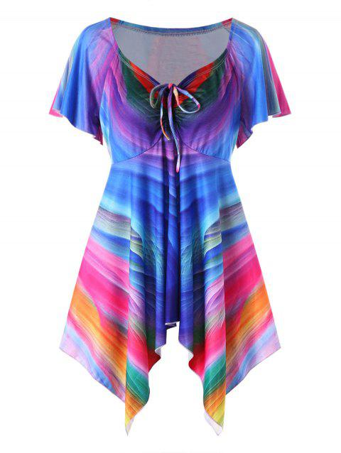 54297f79da3 LIMITED OFFER  2019 Plus Size Rainbow Empire Waist Tee In COLORMIX ...