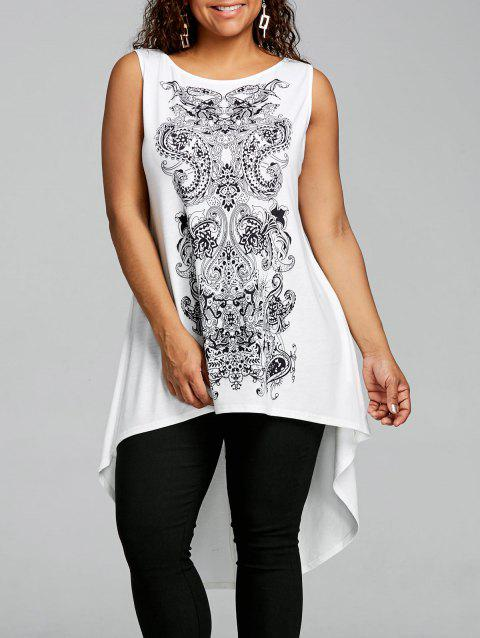 f113ad1c52f8f LIMITED OFFER  2019 Plus Size Paisley Sleeveless High Low T-shirt In ...