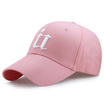 Unique U Embroidery Adjustable Sunscreen Hat - PINK PINK