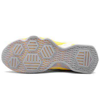 Breathable Running Basketball Sports Shoes - YELLOW 42