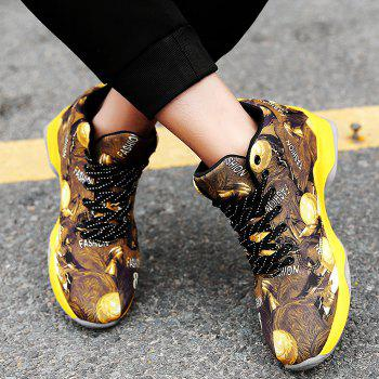 Breathable Running Basketball Sports Shoes - YELLOW 43