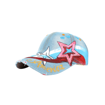 Unique Star Pattern Embellished Hand Drawing Baseball Cap -