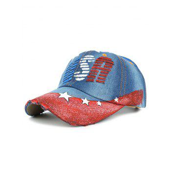 Unique USA Pattern Hand Drawing Baseball Hat - #03
