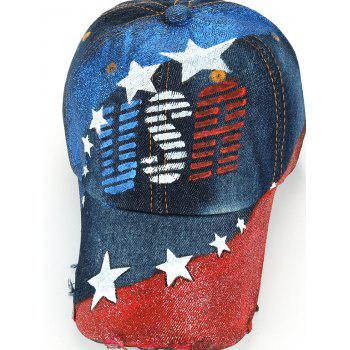 Unique USA Pattern Hand Drawing Baseball Hat -