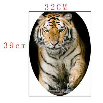 Tiger Print Bathroom Decor Toilet Sticker - DEEP BROWN 12.6*15.4 INCH
