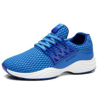 Outdoor Breathable Mesh Style Sneaker - BLUE 42