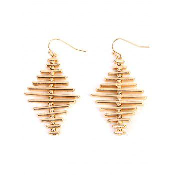 Simple Alloy Geometric Bar Hook Earrings - GOLDEN GOLDEN