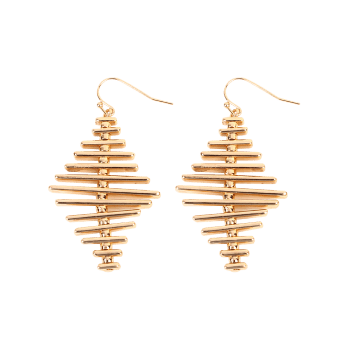Simple Alloy Geometric Bar Hook Earrings -  GOLDEN