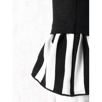 Lace Up Bell Arm Sleeves - WHITE/BLACK L