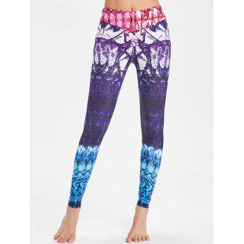 Stretchy Tie Dye Funky Gym Leggings - multicolorCOLOR M