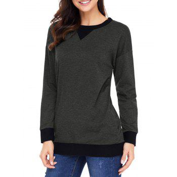 Pullover Dropped Shoulder Sweatshirt - DEEP GRAY XL