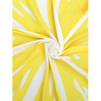 Lemon Piece Printed Fringed Beach Blanket Throw - YELLOW ONE SIZE